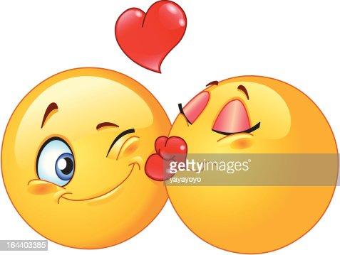 Kissing emoticons : Vector Art