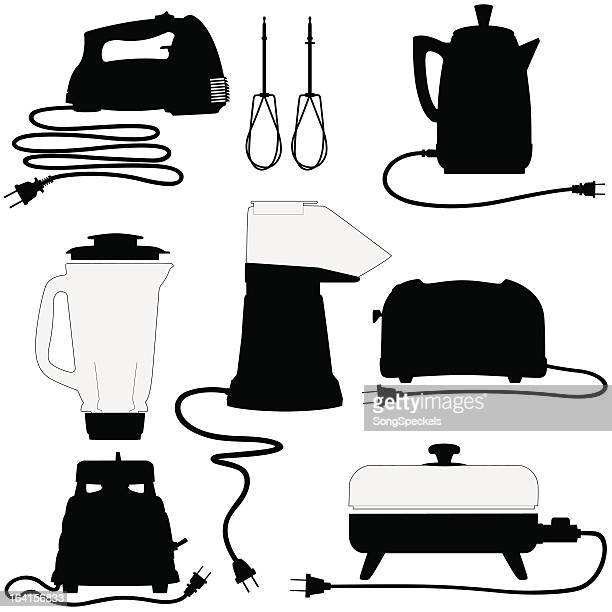Hand Mixer Silhouette ~ Electric mixer stock illustrations and cartoons getty images