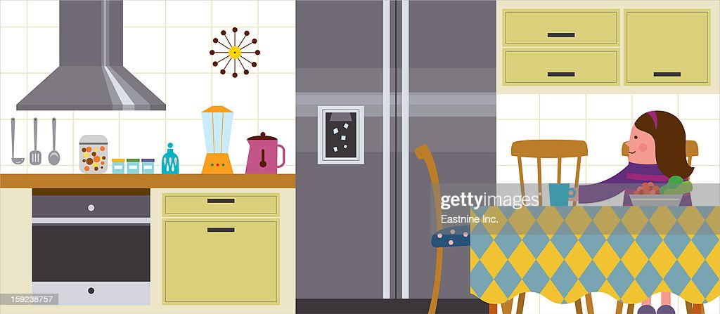 Kitchen Interior : Stock Illustration