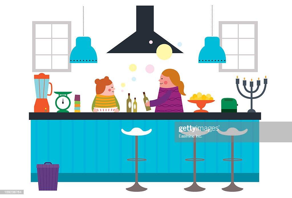 Kitchen Interior : Stock Illustration