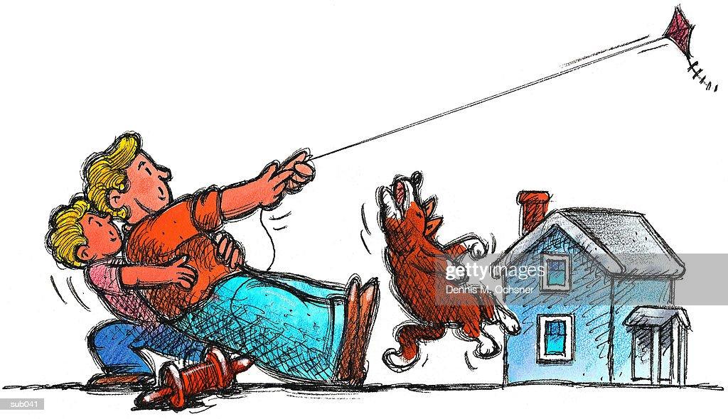 flying kite illustration - photo #49