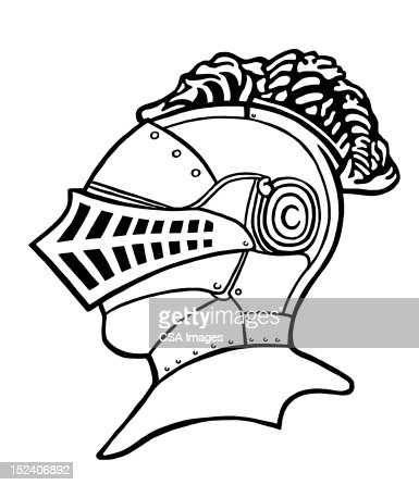 Knight Helmet Stock Illustration | Getty Images