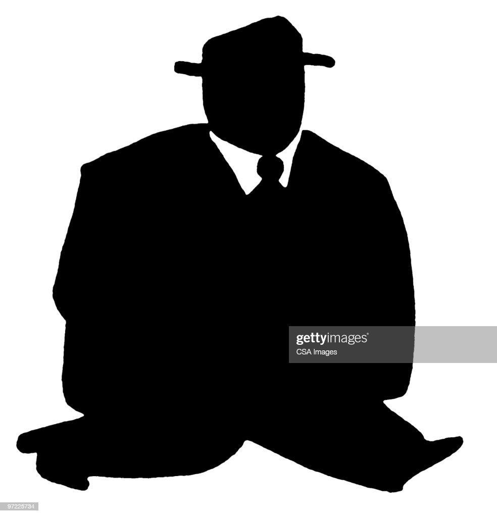 Large Man : Stock Illustration