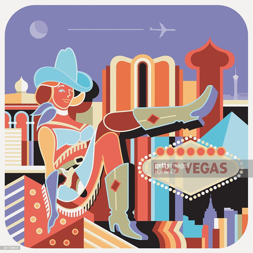 Las Vegas, USA : Stock Illustration