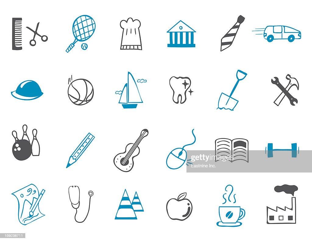 leisure Icon set : Stock Illustration