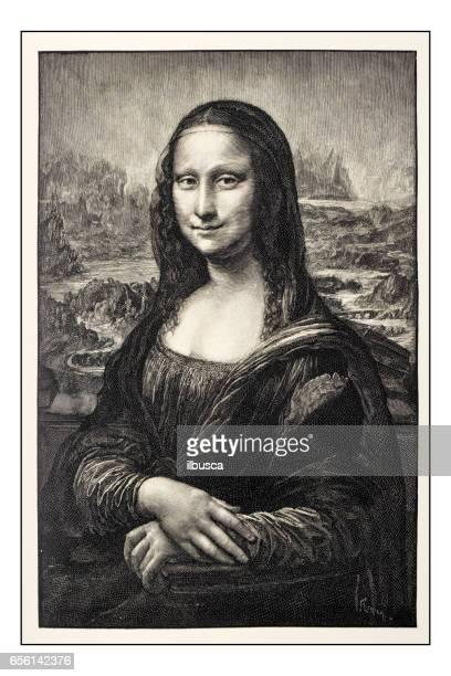 Leonardos skisser och ritningar: Mona Lisa (La Gioconda)