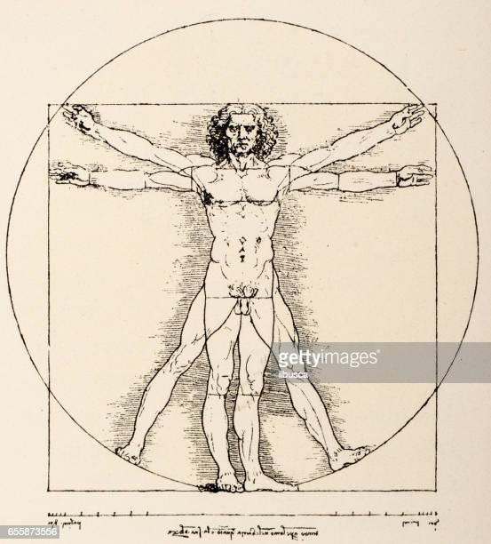 Leonardo's sketches and drawings: Vitruvian Man