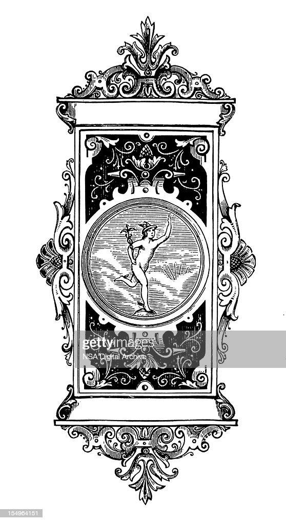 Letterhead With Mercury Roman God Of Trade Stock ...