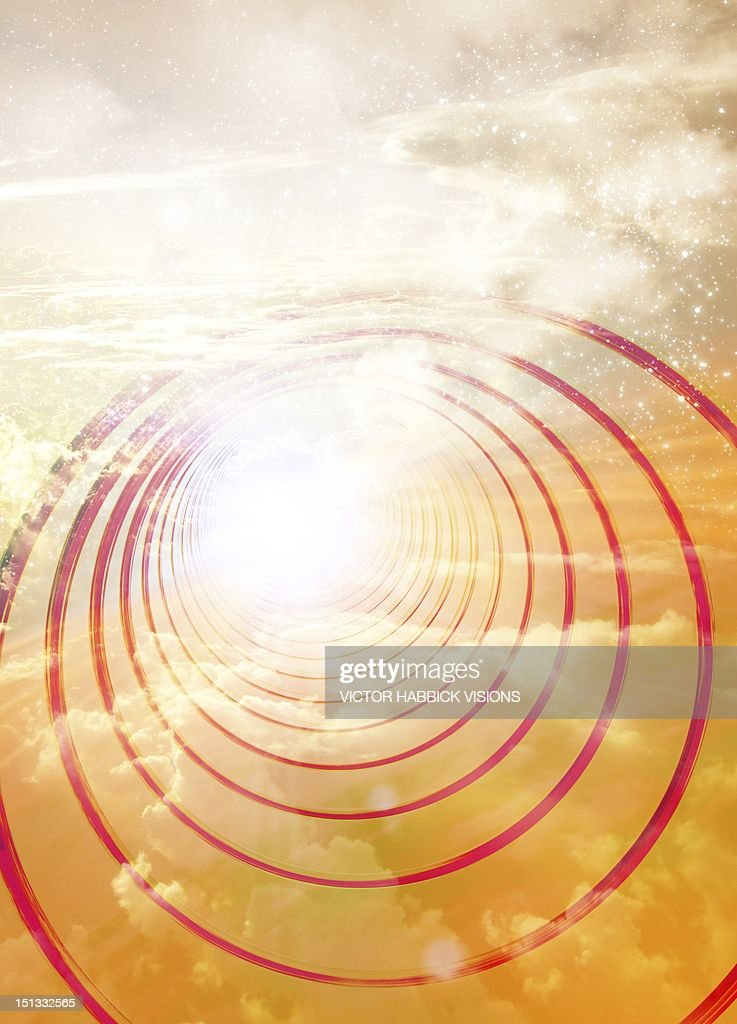 Light at the end of the tunnel, artwork : Stock Illustration