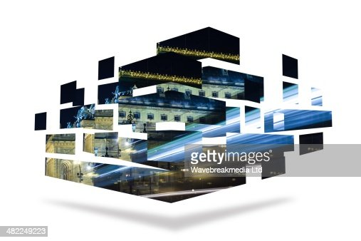 Light over bridge on abstract screen : Stock-Illustration