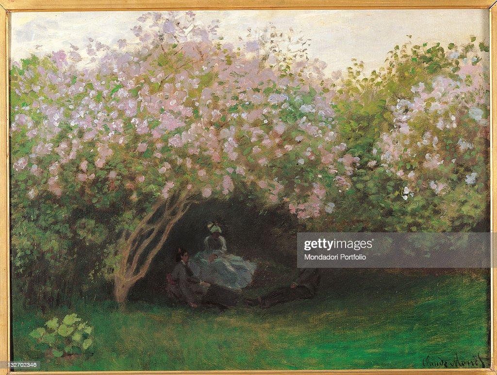 Lilacs. Grey Weather, by Claude Monet, 1872 - 1873, 19th Century, oil on canvas, cm 50 x 65,5. : Fine art