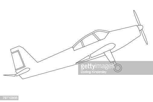 Line Drawing Jet : Line drawing of plane stock illustration getty images