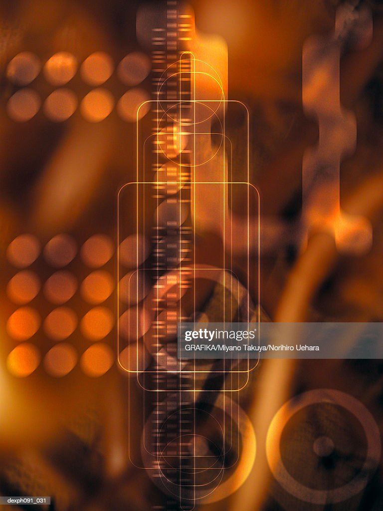 Lines and circular lines, abstract digitally generated images : Stock Illustration