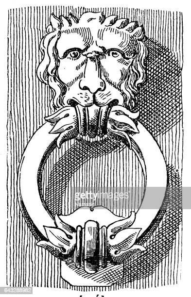 Lion shaped knocker