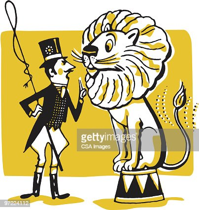 Lion Tamer Stock Illustration | Getty Images