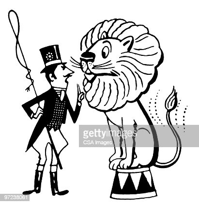 Lion Tamer Stock Illustration