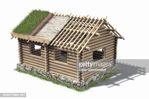 Log Cabin Under Construction Stock Illustration Getty Images