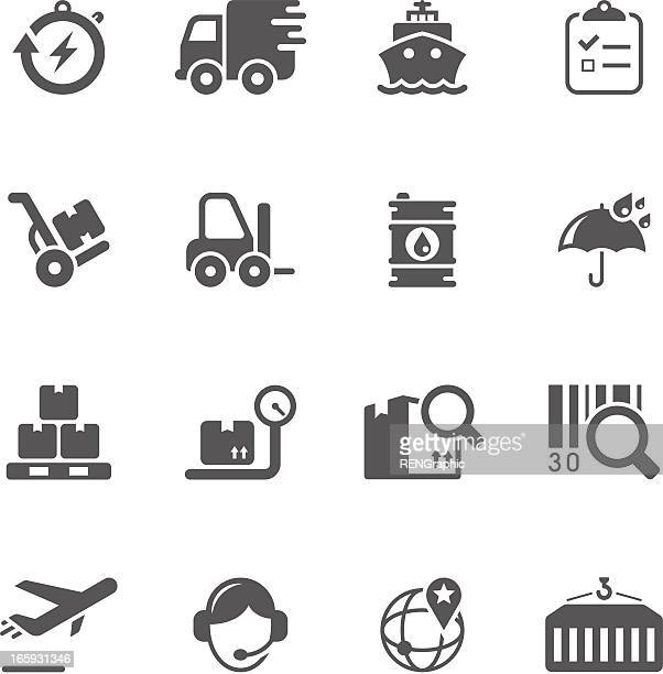 Logistics & Shipping Icon Set   Unique Series