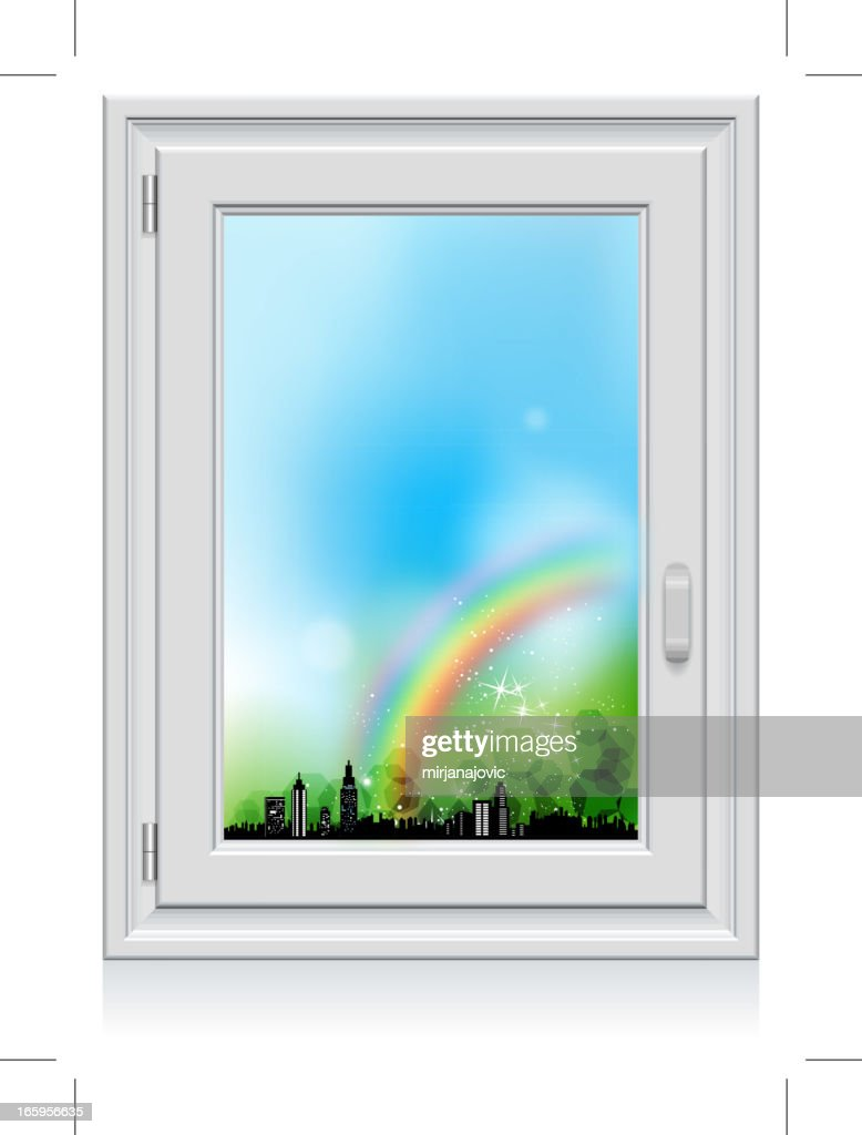 Regarder par la fen tre clipart vectoriel getty images for Regarder par la fenetre