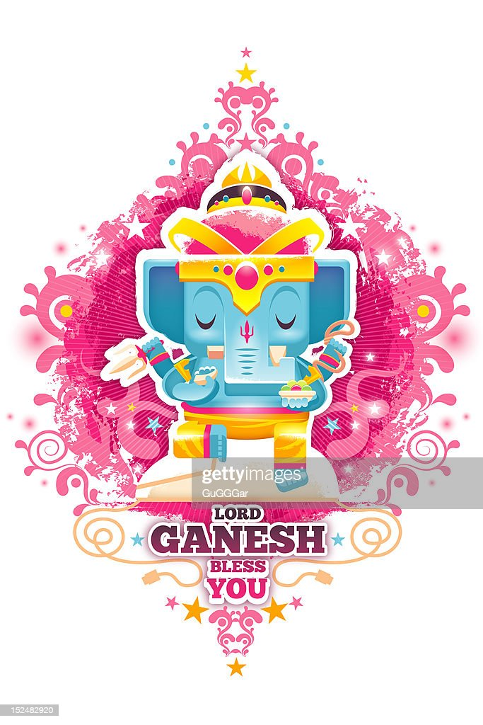 Lord Ganesh bless you : Stock Illustration
