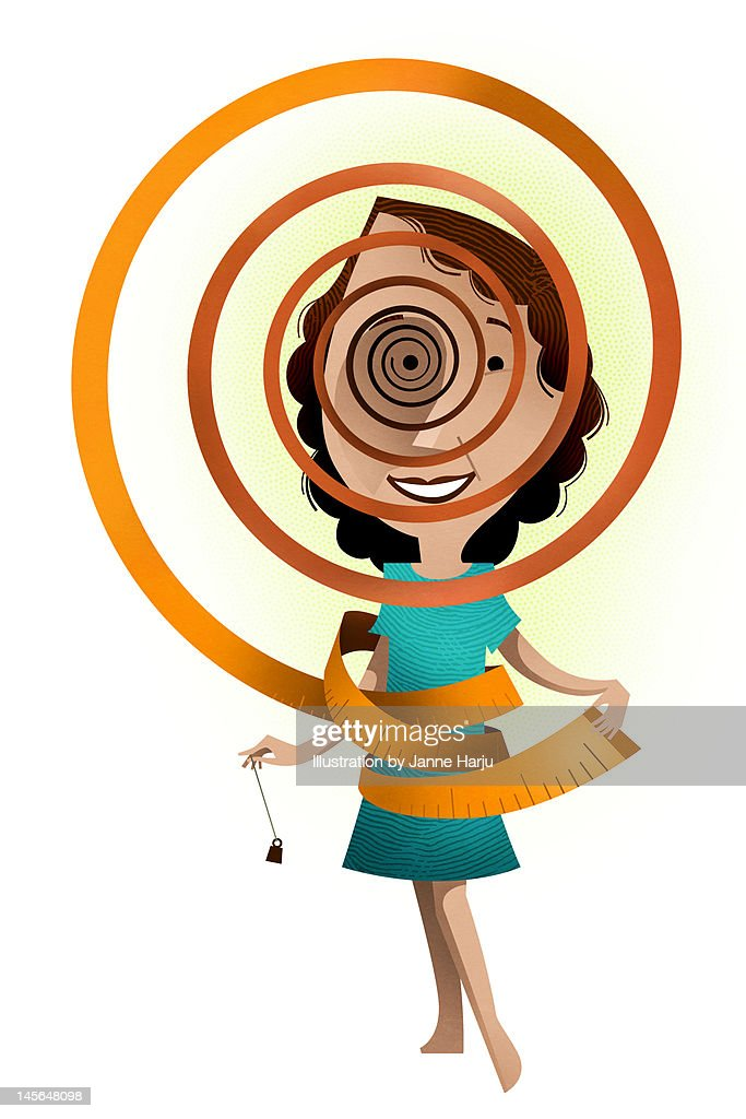 Losing weight with hypnosis : Stock Illustration