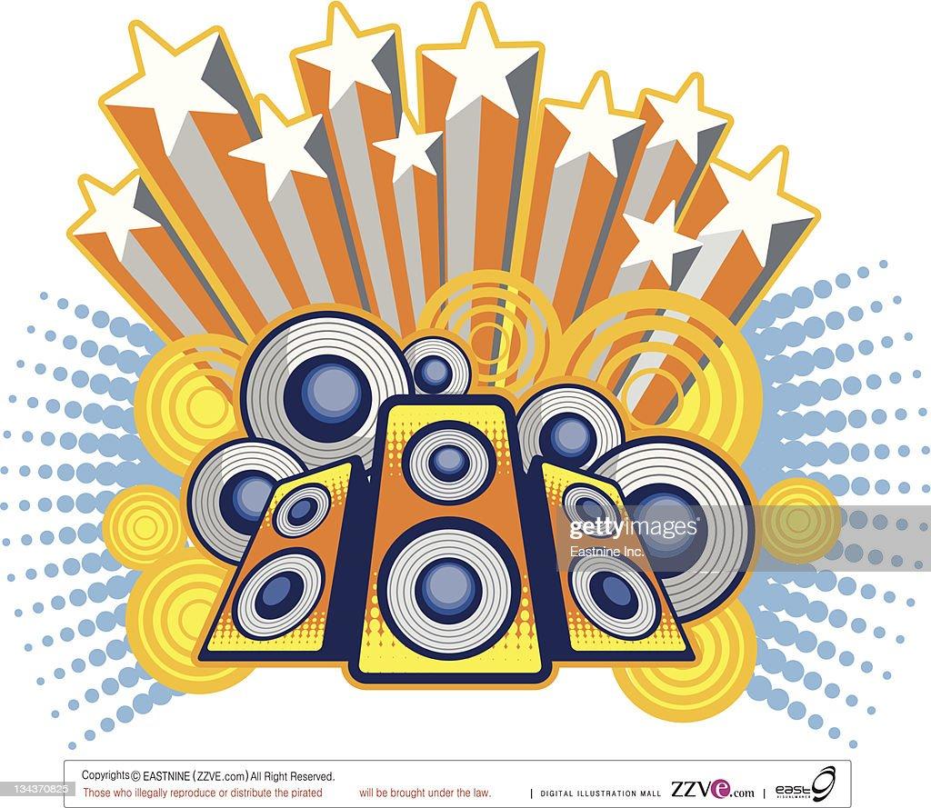 Loudspeaker : Vector Art