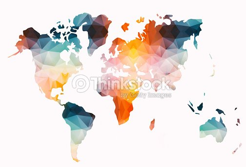 Low poly colorful world map stock illustration thinkstock low poly colorful world map stock illustration gumiabroncs Gallery