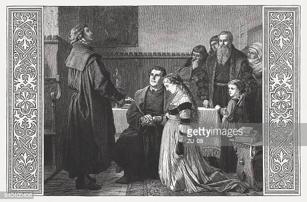 Luther's wedding to Katharina von Bora in 1525, published 1872