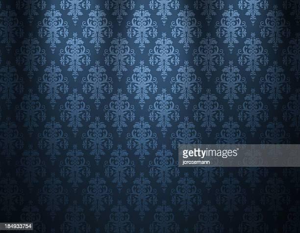 Azul de papel tapiz lujo