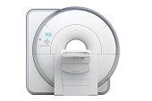 MRI Magnetic Resonance Imaging Scanner, 3D rendering isolated on white background