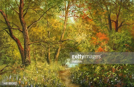 Magnificent foliage : Stockillustraties