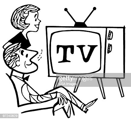 watching tv clipart black and white. watching tv clipart black and white