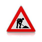 Baustelle schild clipart  Baustellenschild – Fotos und Grafiken - Lizenzfreie Bilder ...