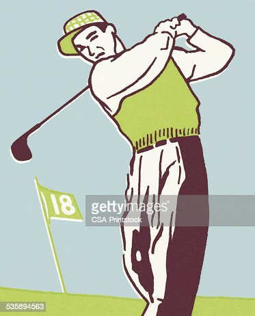 Homme de golf : Illustration