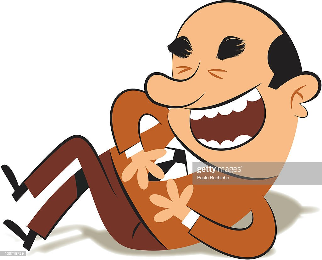 A man on the floor laughing : Stock Illustration