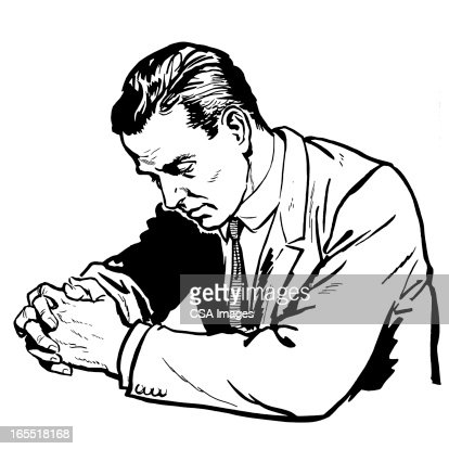 Man Praying Stock Illustration | Getty Images