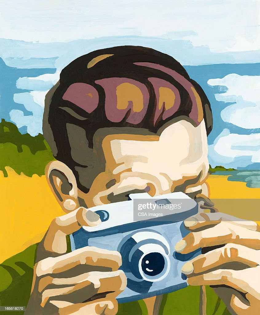 Man Taking a Picture : Stock Illustration