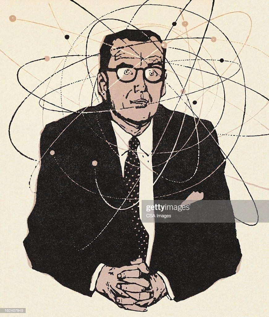 Man Thinking : Stock Illustration