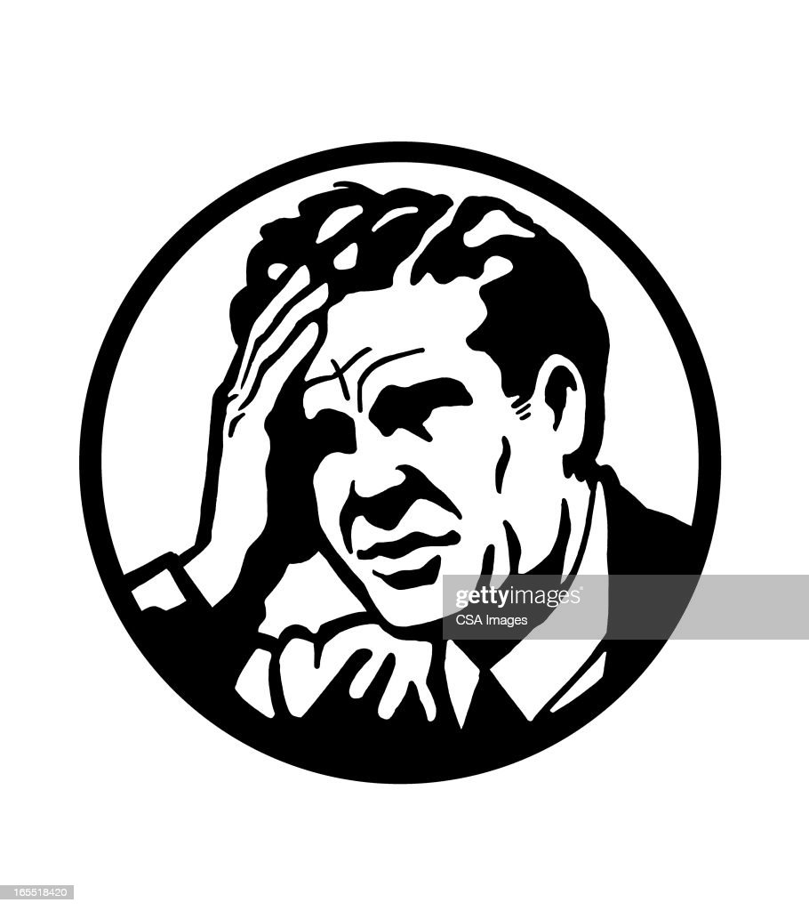 Man With a Headache : Stock Illustration