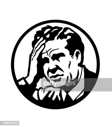 Man With a Headache : Stock Illustration