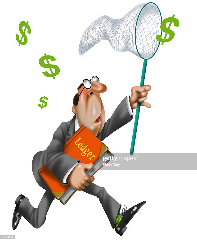 Man with Butterfly Net : Stock Illustration