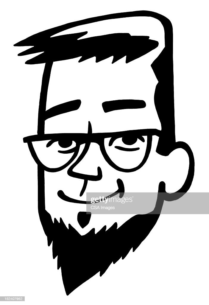 Man With Goatee : Stock Illustration