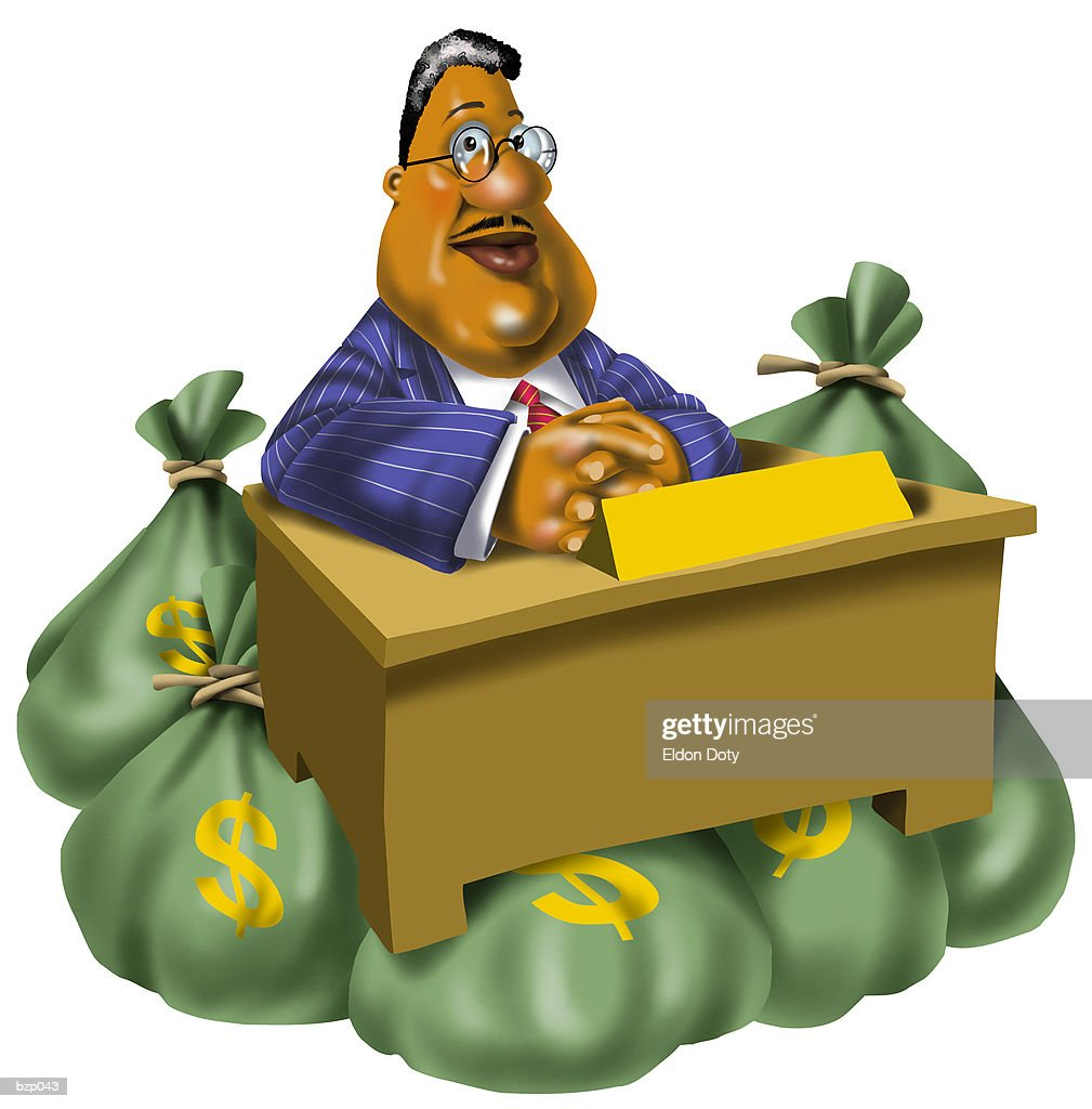 Man with Money Bags : Stock Illustration