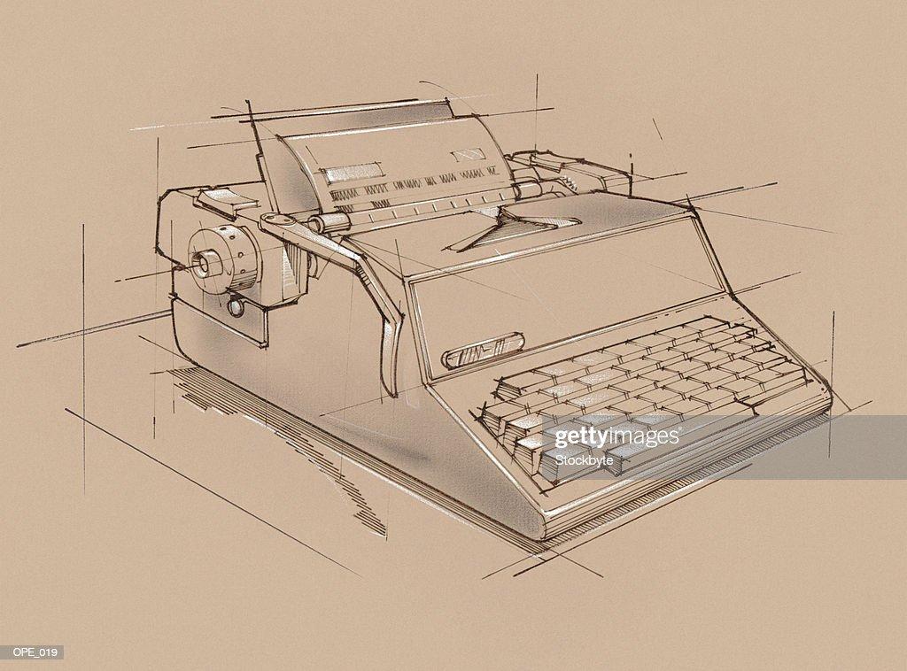 Manual typewriter : Stock Illustration