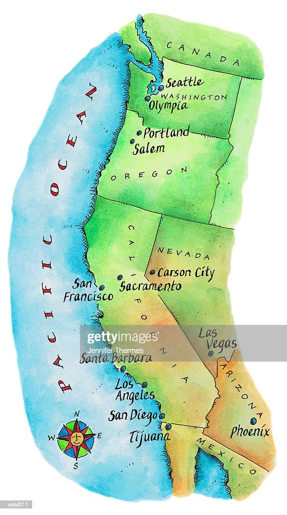 Map Of Scandinavia Stock Illustration Getty Images - Us map and compass
