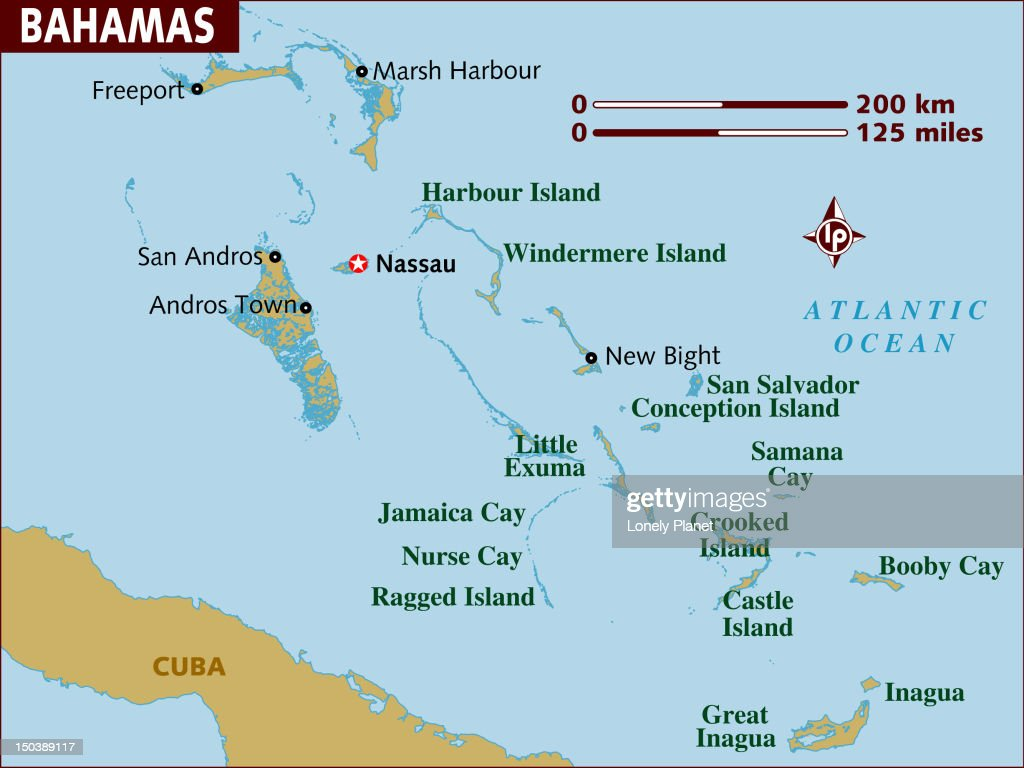 Map of Bahamas. : Stock Illustration