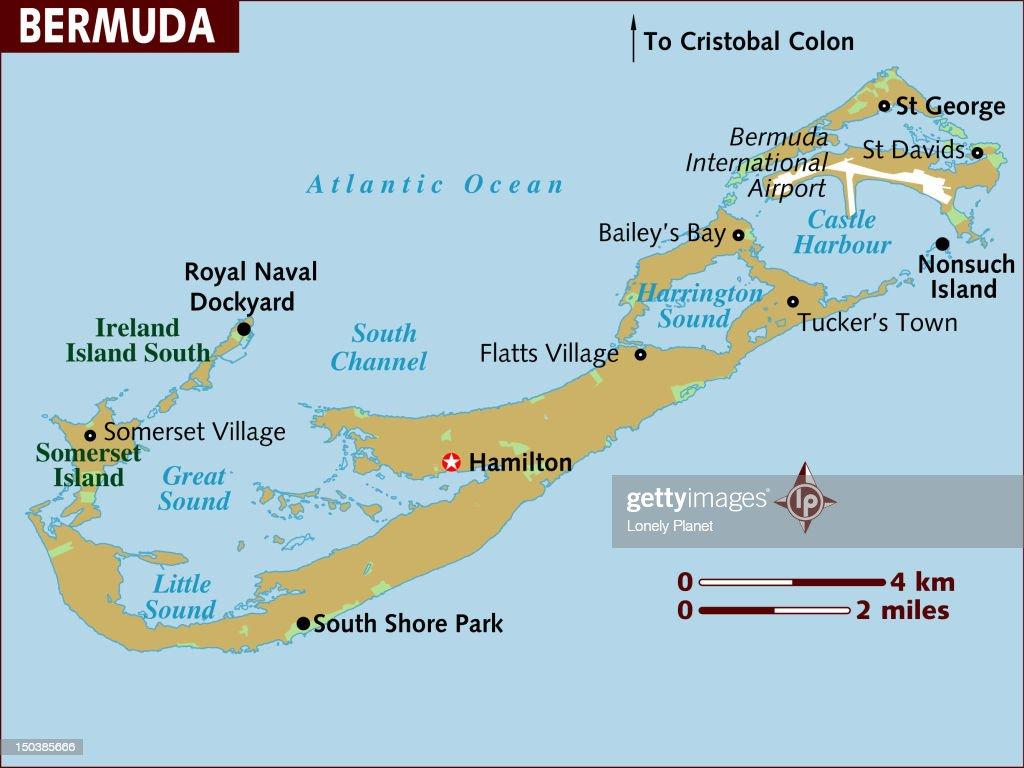 Map of Bermuda. : Stock Illustration