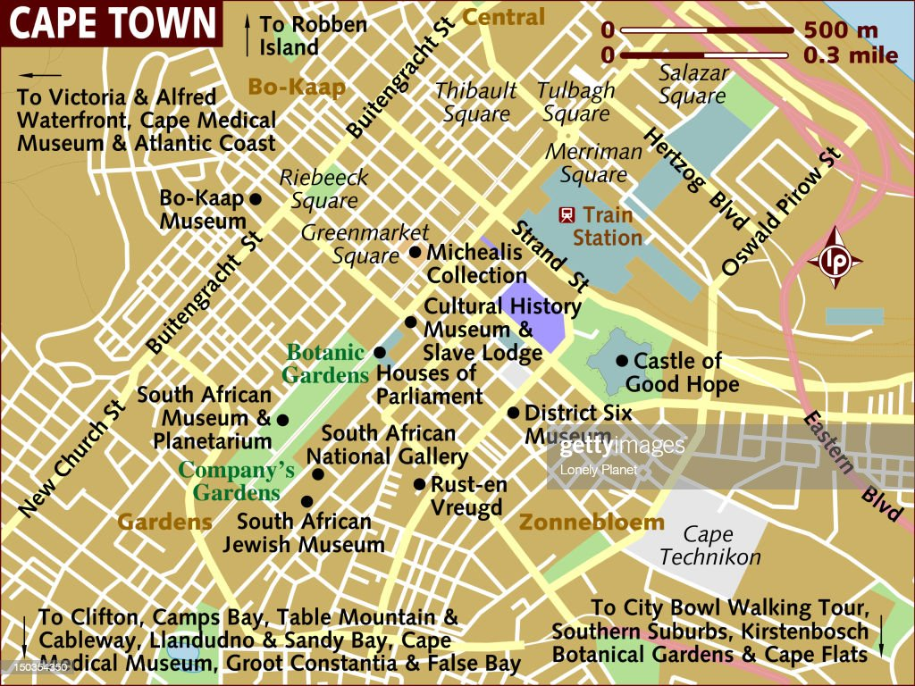 Map of Cape Town. : Stock Illustration