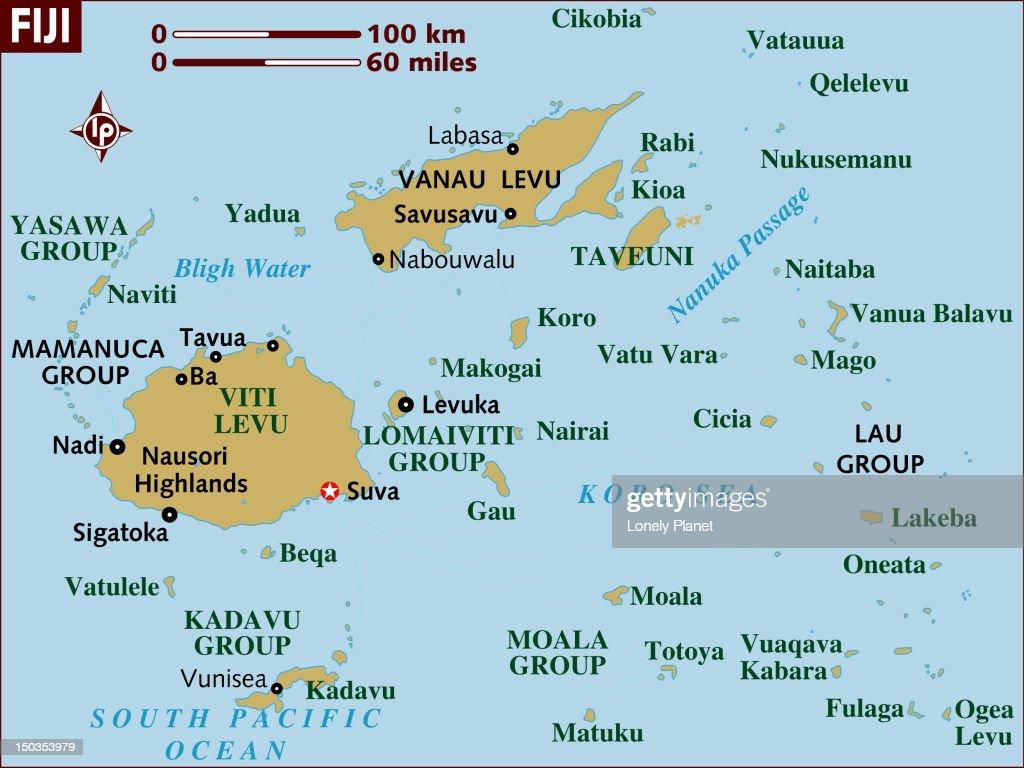Map of Fiji. : Stock Illustration