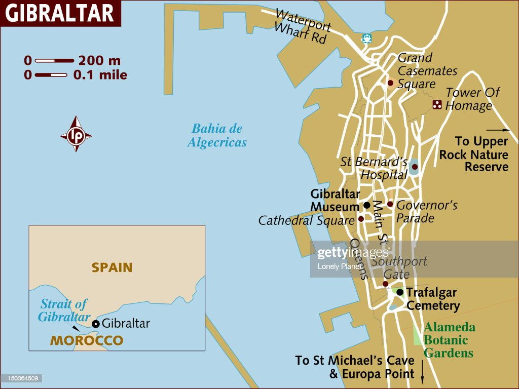 Map Of Gibraltar Stock Illustration Getty Images